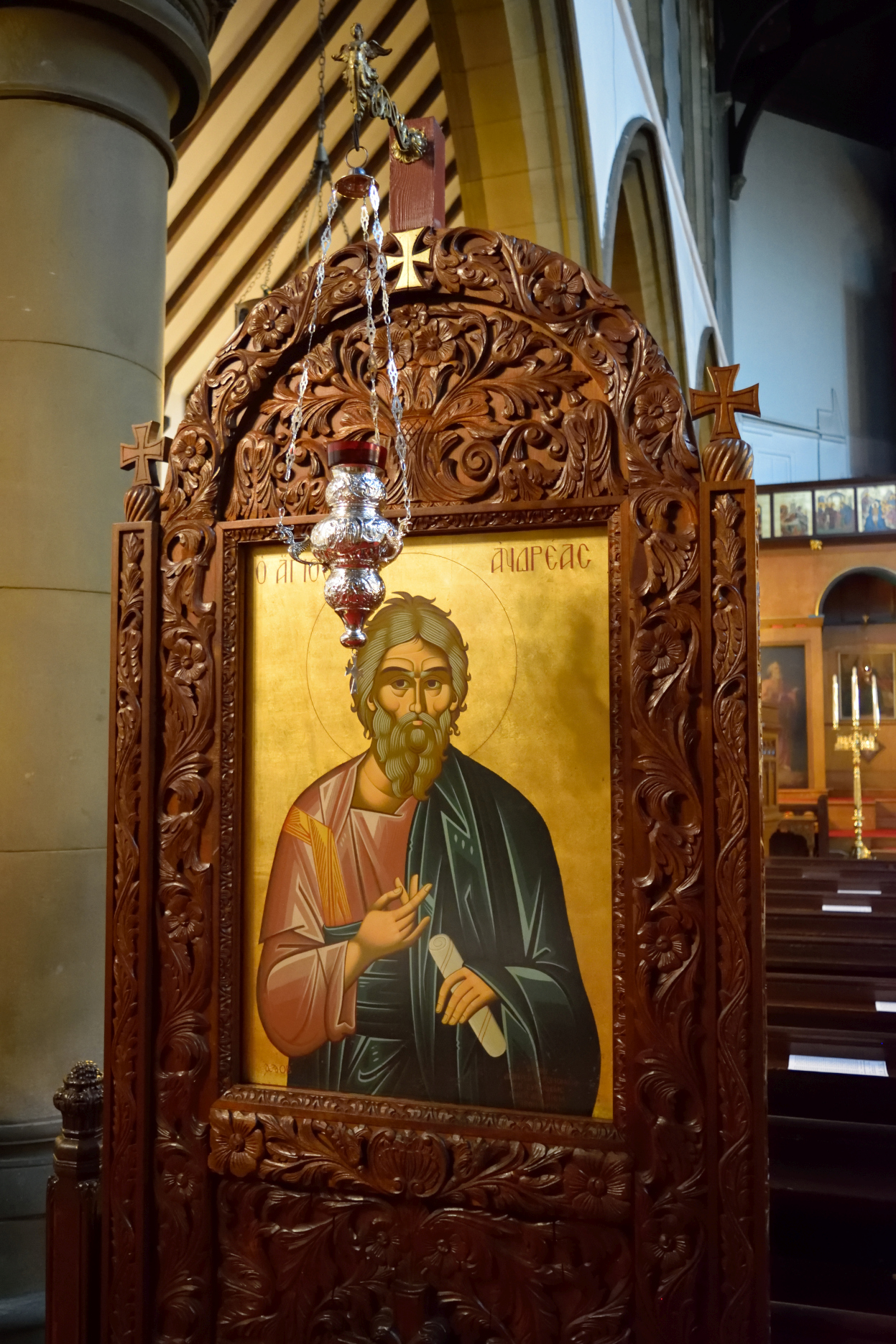 Saint Andrew icon - patron of Scotland