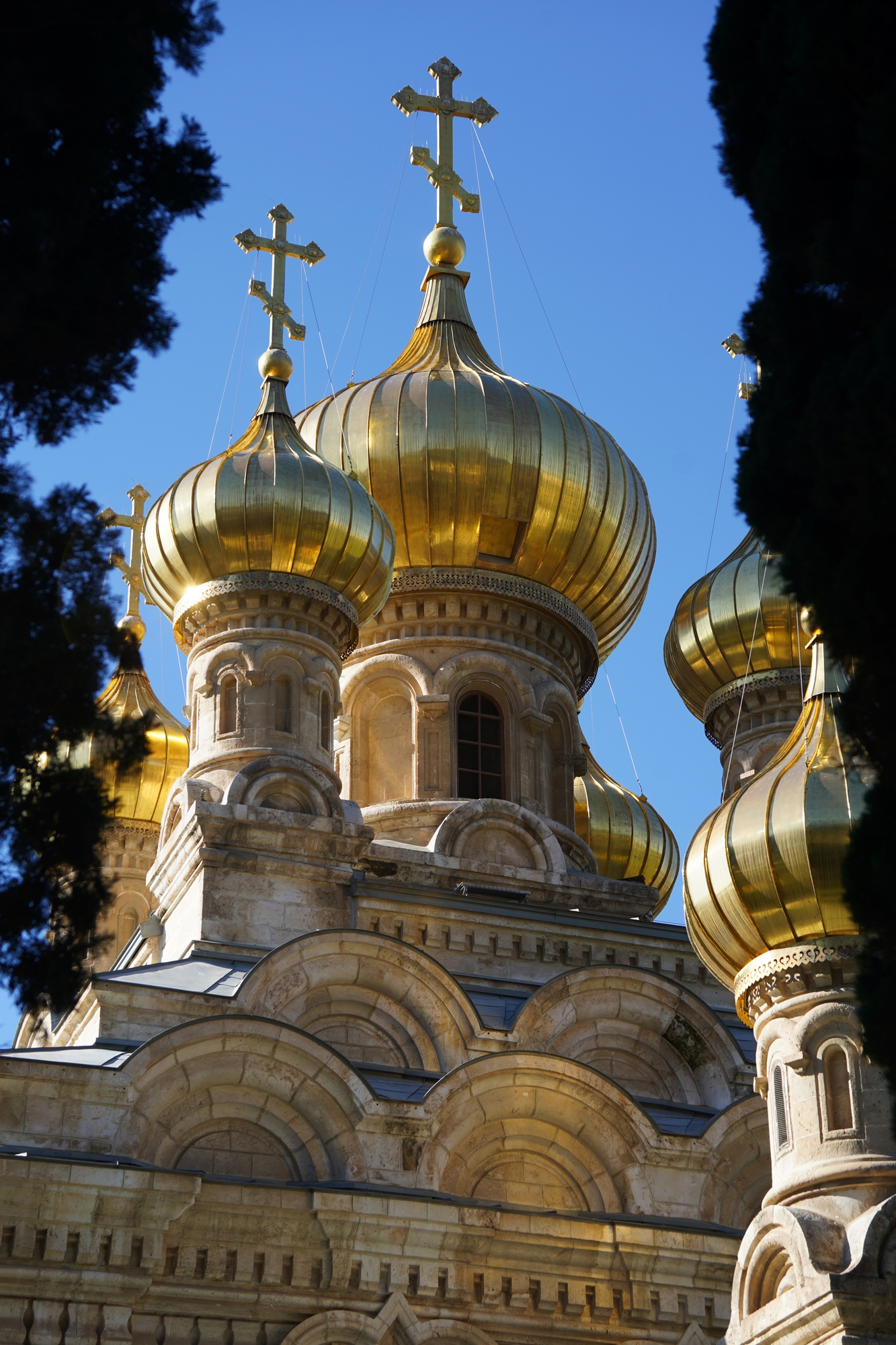 St. Marty Magdalene Russian Orthodox church in Jerusalem