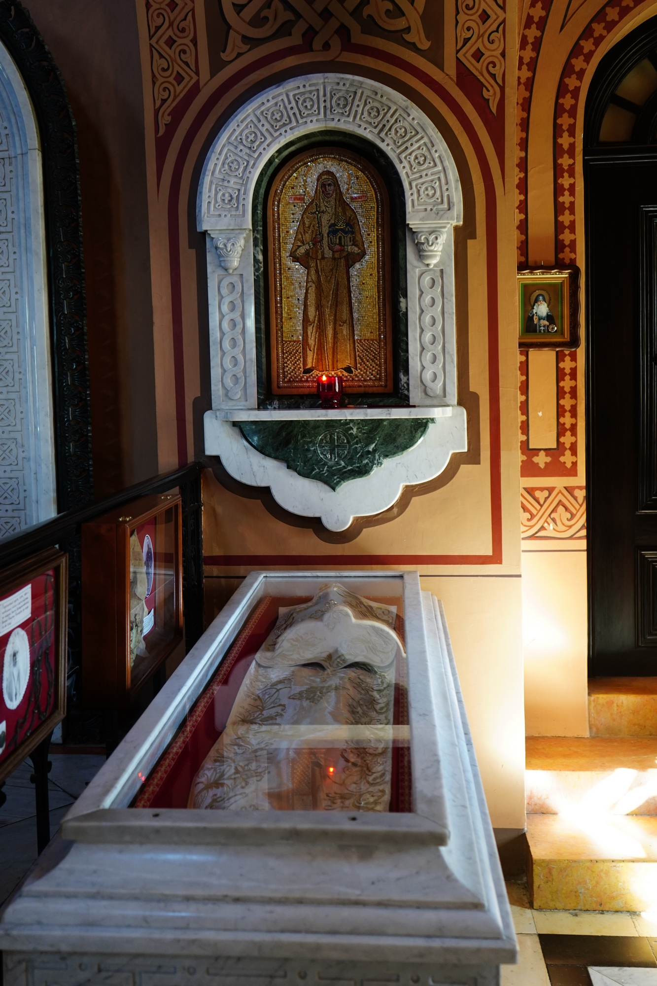 St. martyr Elisabeth relics in St. Marty Magdalene Russian Orthodox church in Jerusalem