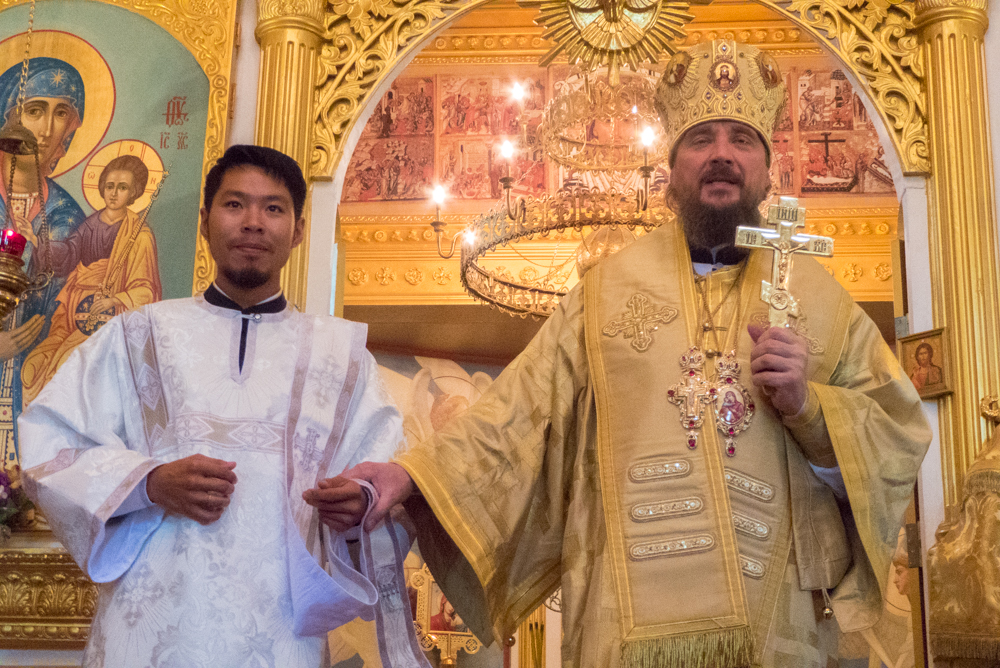 A newly ordained deacon, Father Pavel