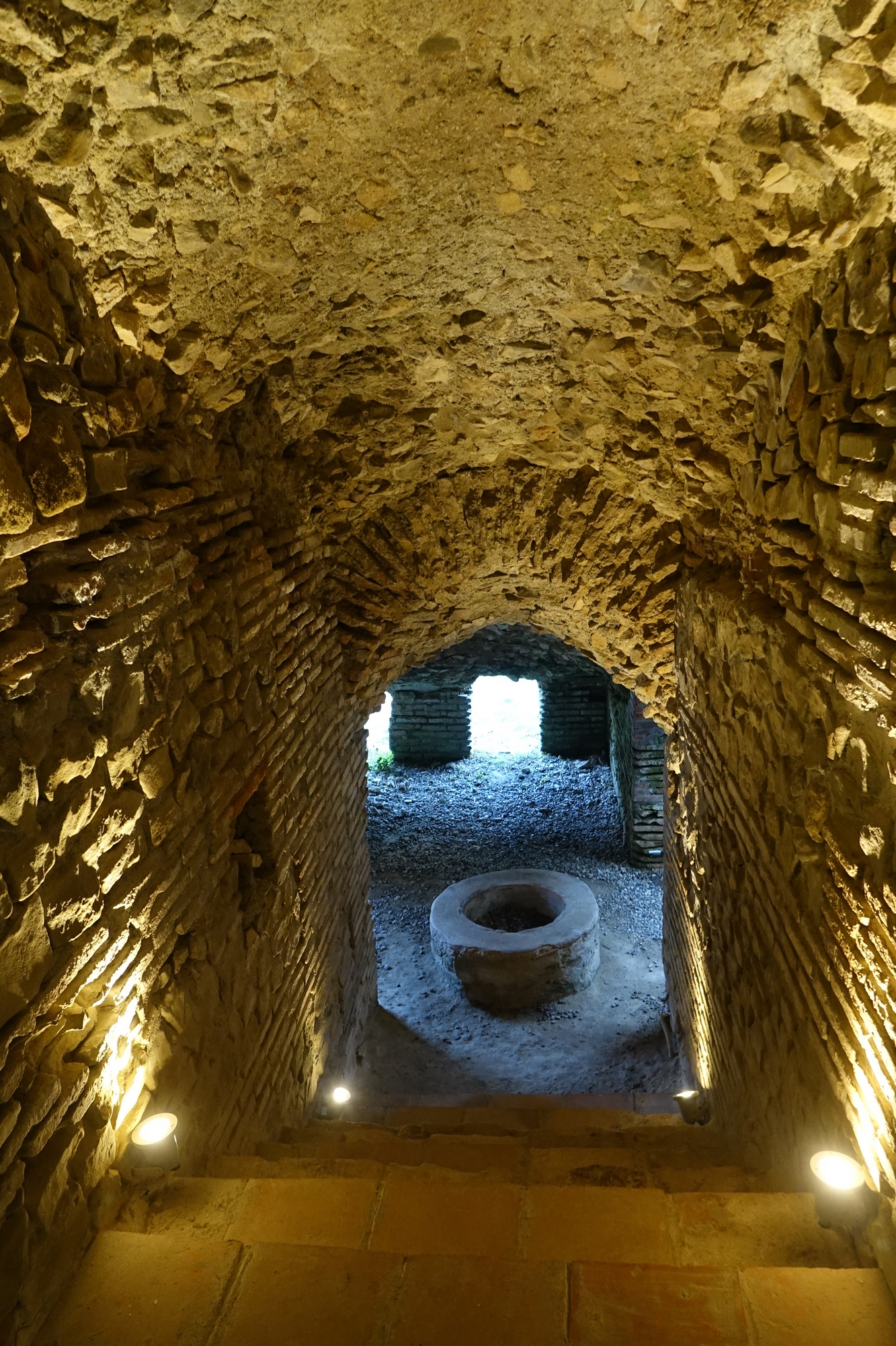 Ancient baptism pool in Durres amphitheatre