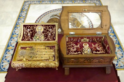jarek11   Relics of Sts. Fikas and Spiridon in Chriselousa Icon the Mother of God Orthodox church in Athieno