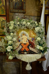 Sheep1389  Paschal icon in Byblos Orthodox church of the Most Holy Theotokos  0  2019-06-01 10:47:47