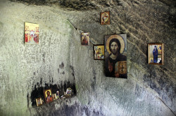 Florina  Saints Daniil and Misail&#039s Cave - Turnu Monastery, Valcea County  2019-06-01 22:44:30