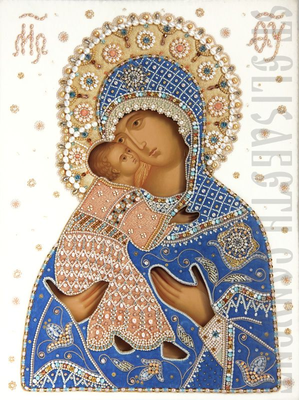 Mother of God of Vladimir (Wedding Icon in Oklad)