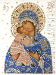 d3n1sf   Mother of God of Vladimir (Wedding Icon in Oklad)