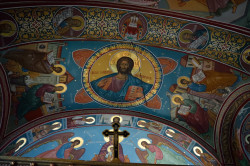 Sheep1389   Pantocrator in the Holy Trinity church in Cluj Napoca