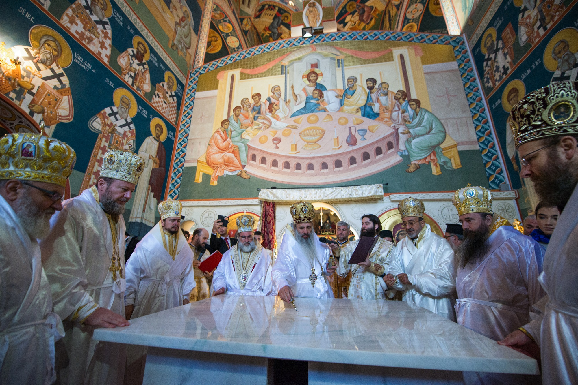 Consecration service of an orthodox christian church