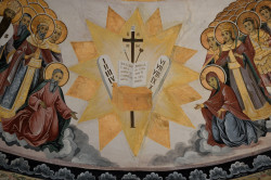 Sheep1389  Fresco of the Holy Cross and the 10 commandments in Rila monastery  2019-09-16 11:39:47