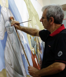 jarek11   Albanian iconographer at work