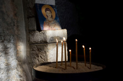 Sheep1389   Saint Vlachos and candles - Kaftoun monastery