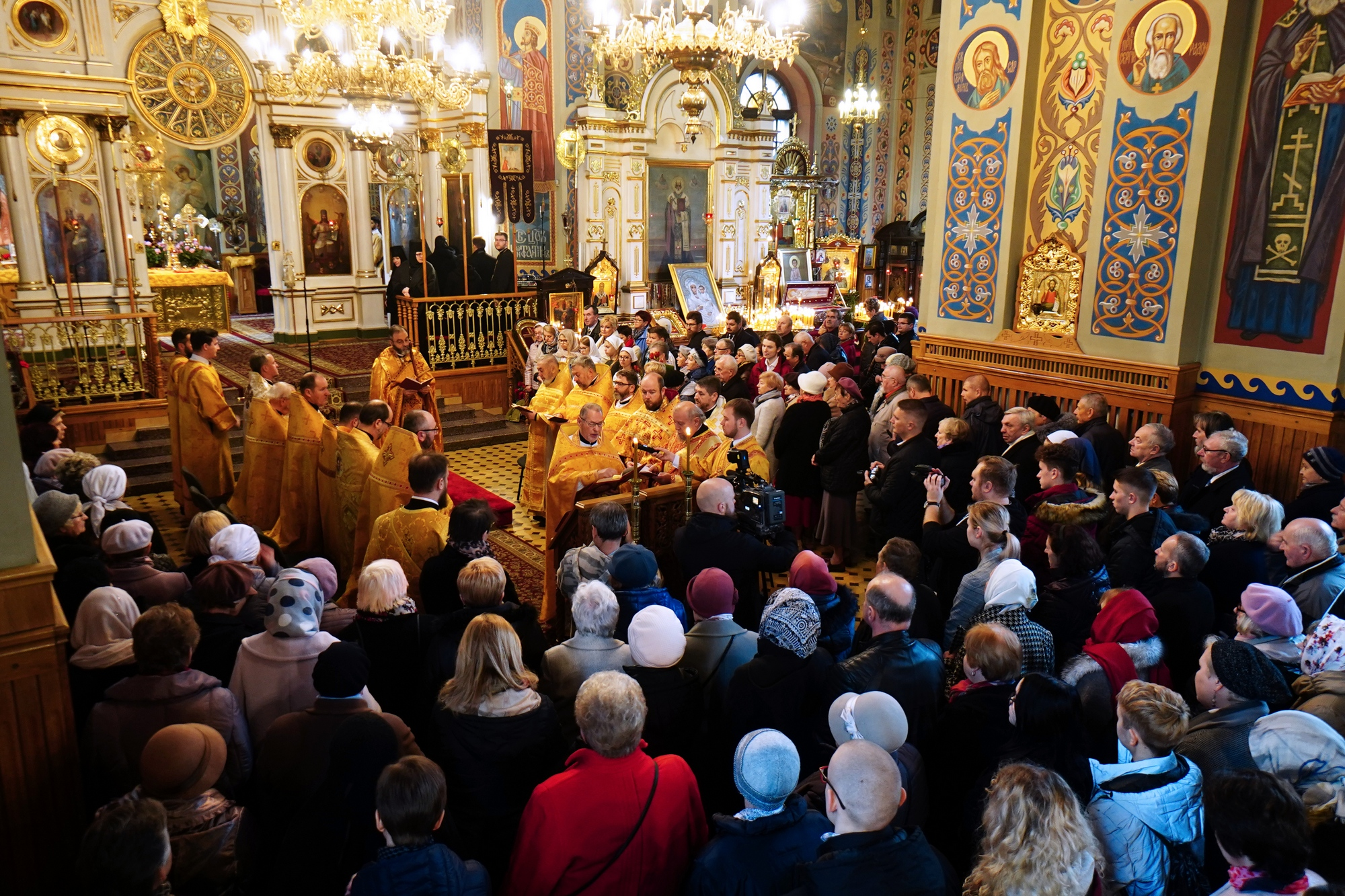 Apostle Jacob Divine Liturgy in St. Nicholas Cathedral in Białystok