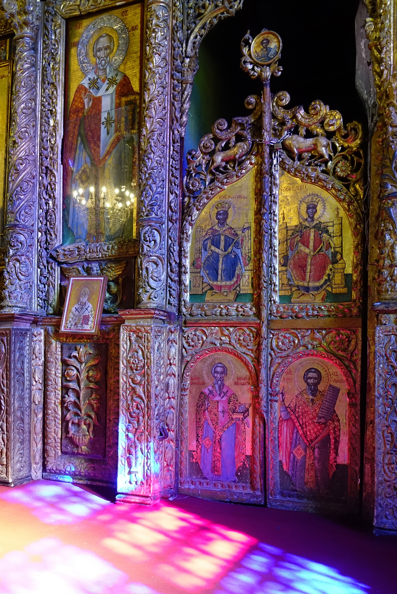 In the Holy Cross Orthodox church in Pano Lefkara