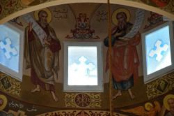 Sheep1389   Saints prophets Isaiah and Ezekiel in Zahle&#039s cathedral