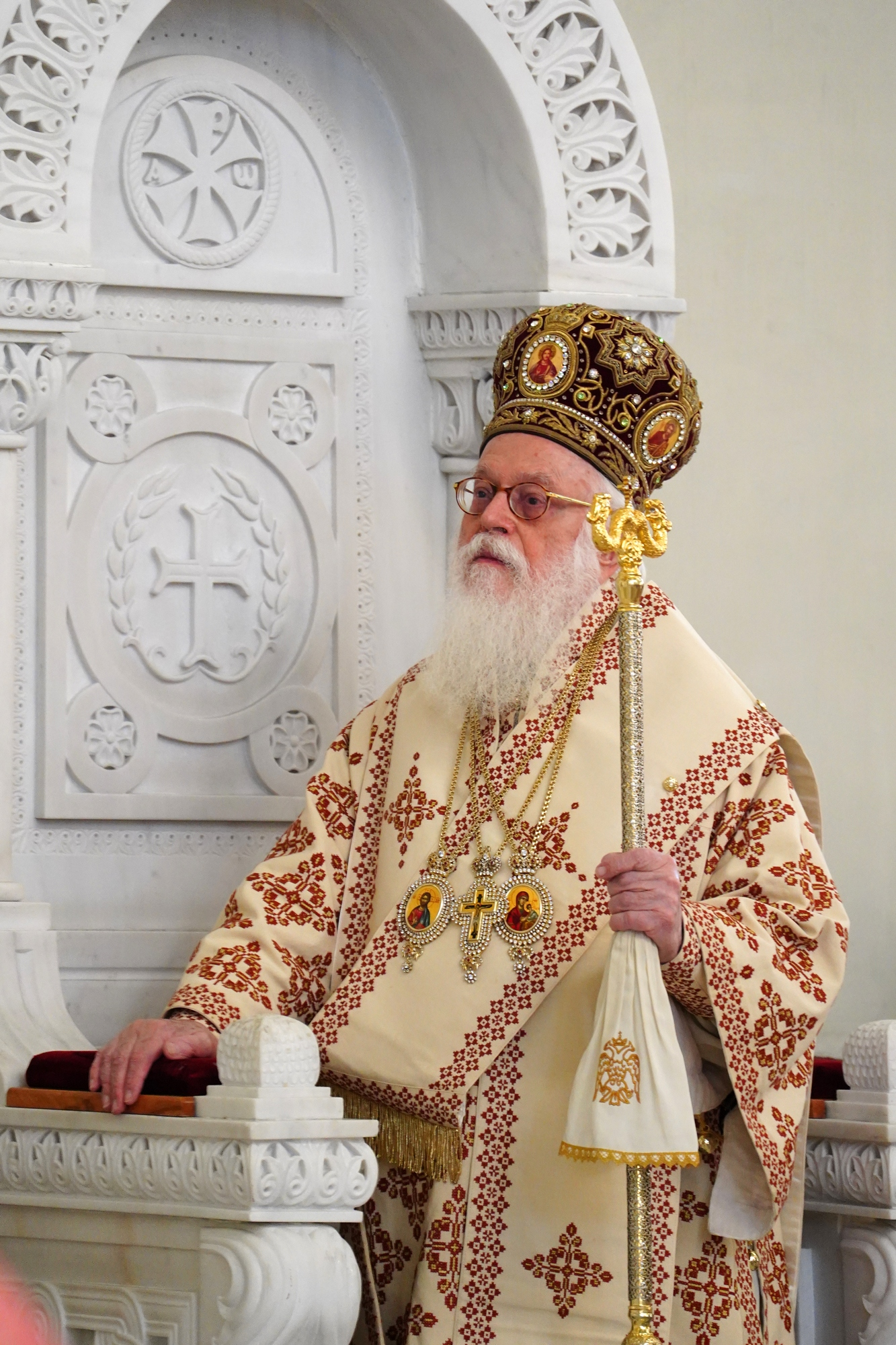 The Divine Liturgy in Ressurestion of Christ Cathedral in Tirana