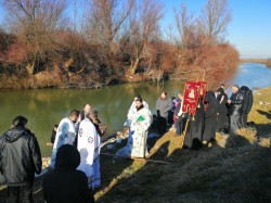 ursiy  The baptism of the Lord at the Cebza monastery, Timis river   2020-01-19 14:20:50