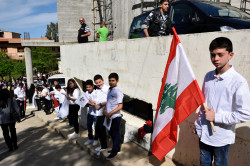 Sheep1389   Lebanese Orthodox youth in Akkar welcoming patriarch