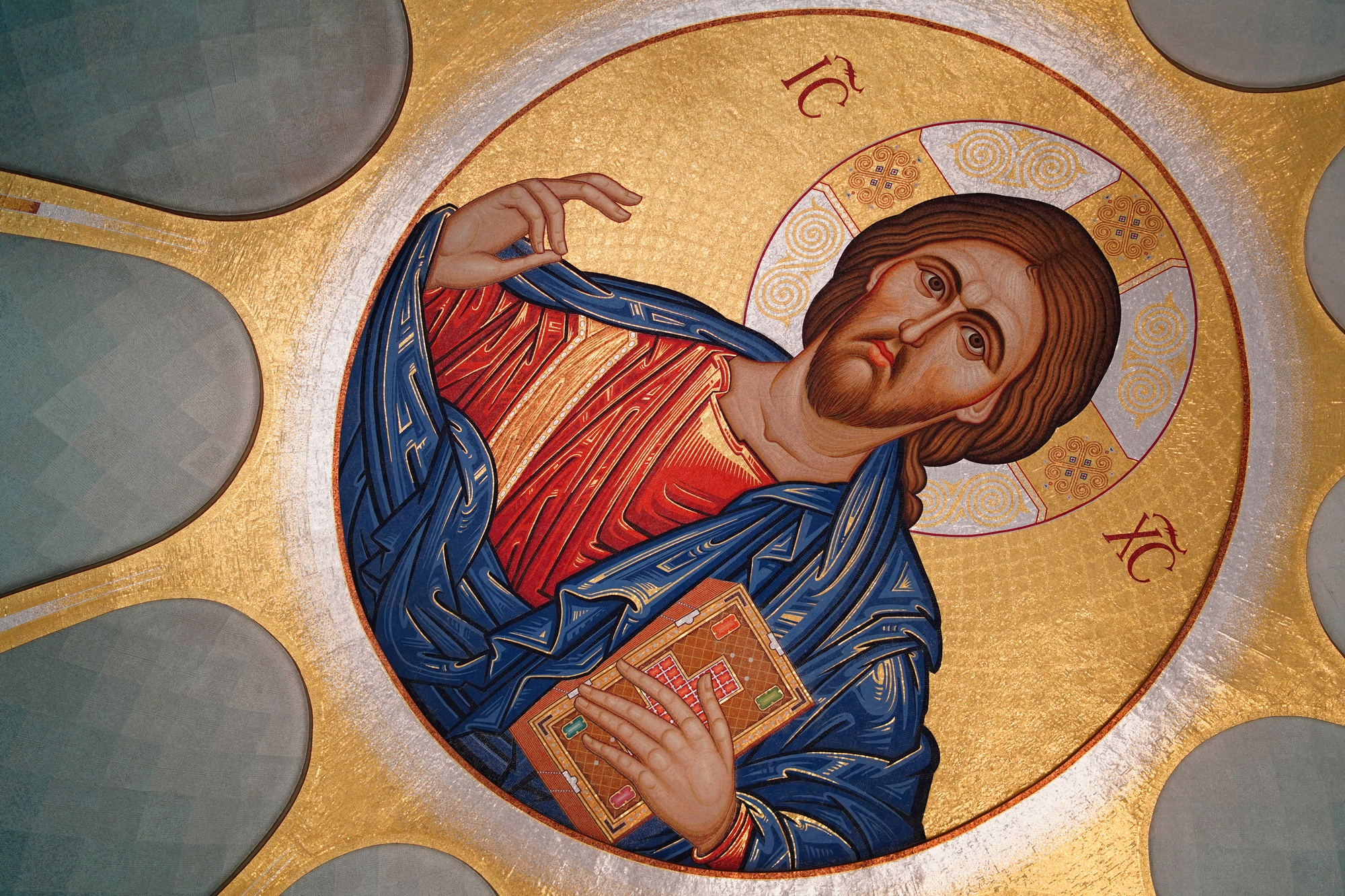 Jesus Christ Pantokrator in Ressurection Cathedral in Tirana