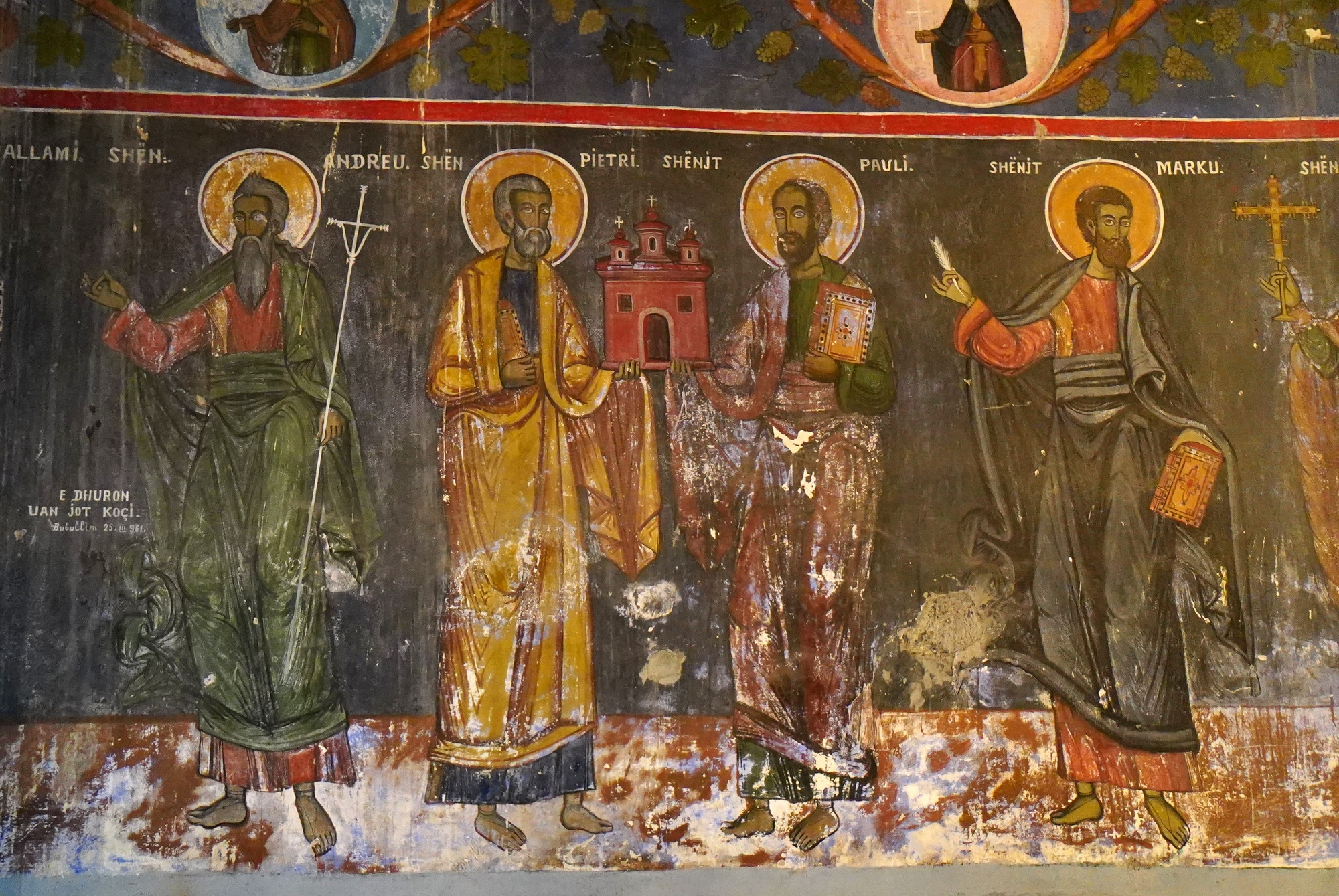 Fresco from Orthodox church in Bubullima