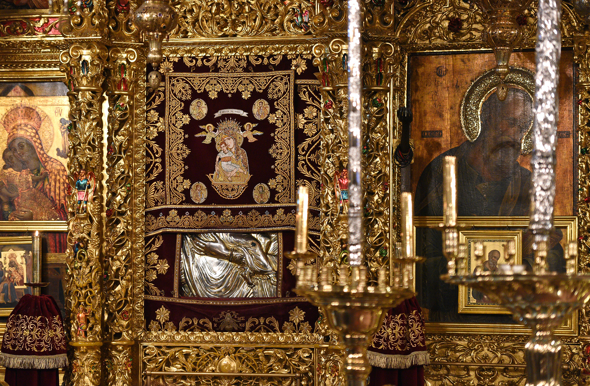 The icon of the Mother of God Kykkotissa