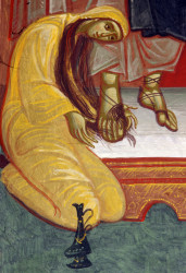 Mitrut Popoiu  The sinner woman washes the feet of Jesus. Detail  2020-04-10 22:22:12
