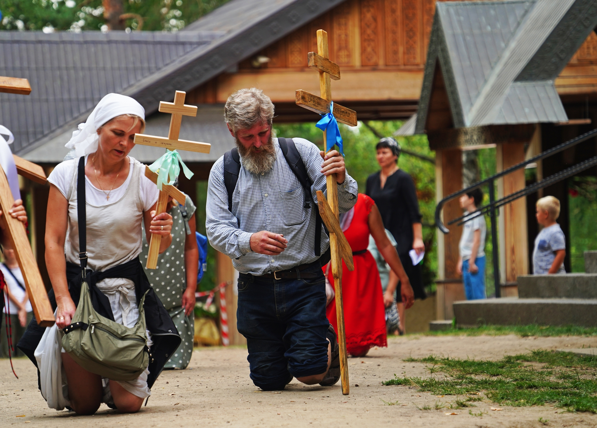 Pilgrims in Grabarka Monastery, August 18th, 2020