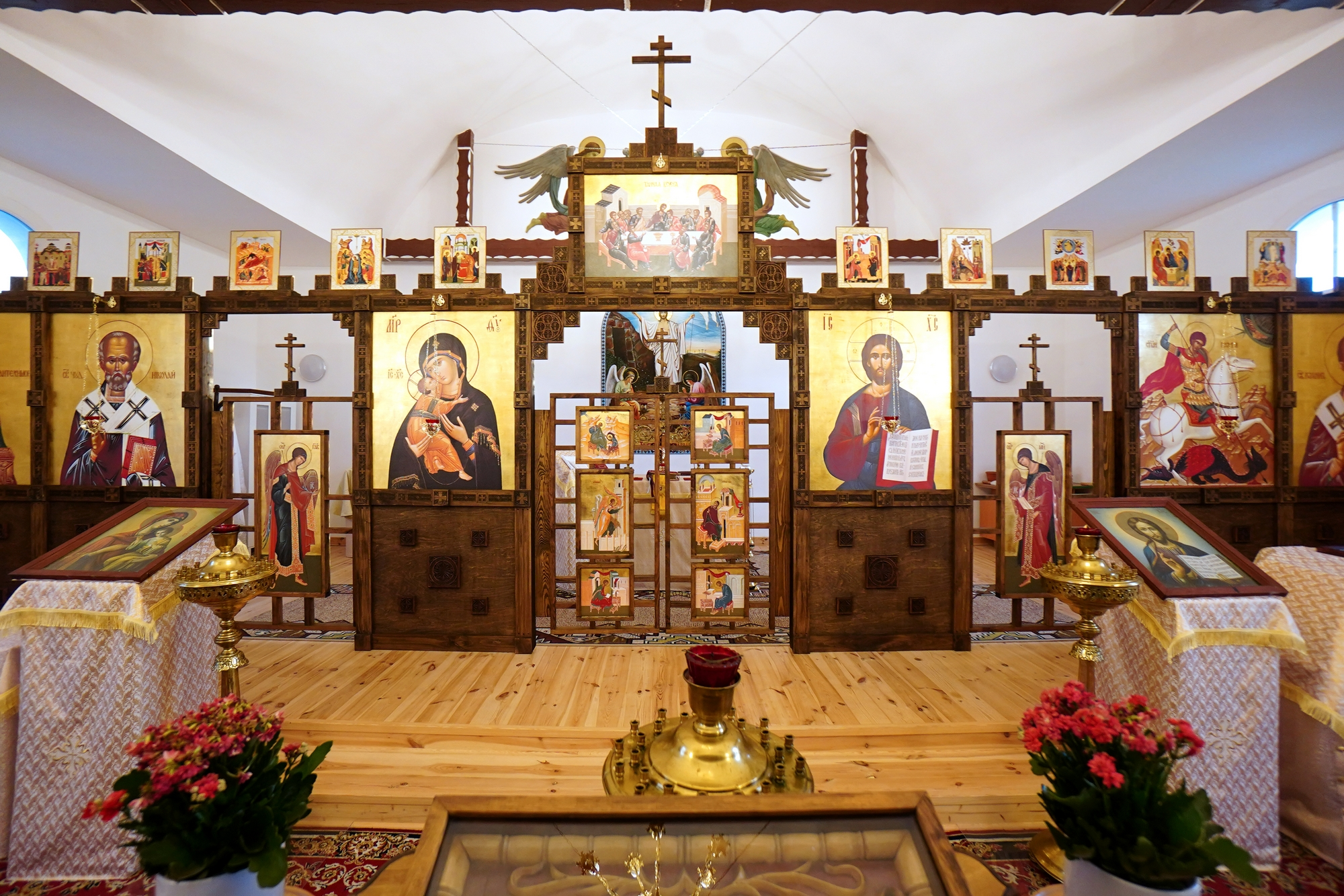 The iconostasis of Orthodox church in Orzysz