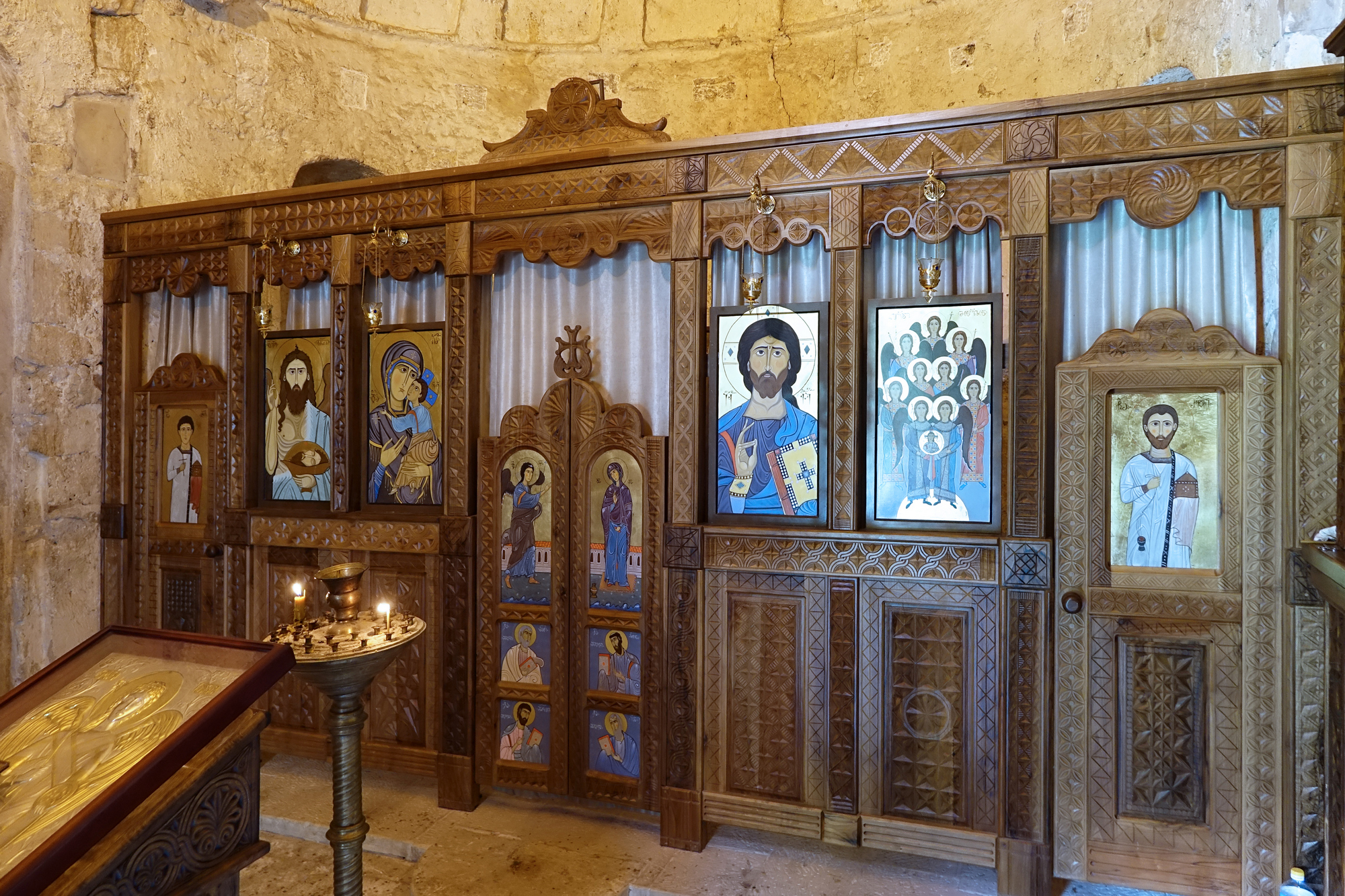 Iconostas of monastery church in Martvili