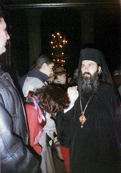 Florina   Archbishop Teodosie of Tomia (Constanta). Photo taken with my film camera in March 1999