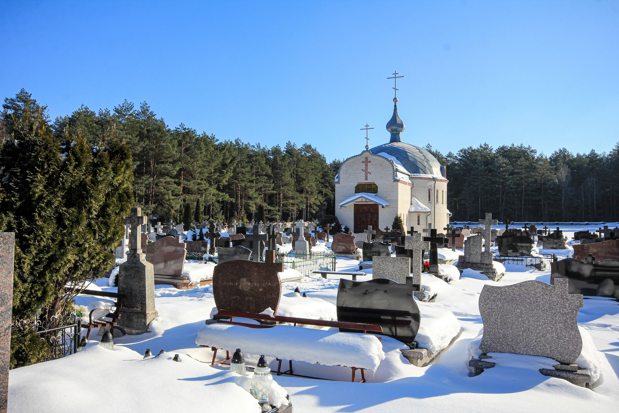The chapel on new Orthodox cementary in Milejczyce