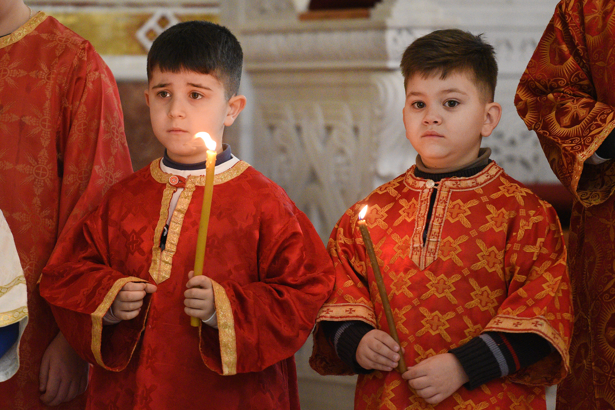 Liturgy at cathedral in Tirana