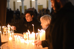 alik   Liturgy at cathedral in Tirana