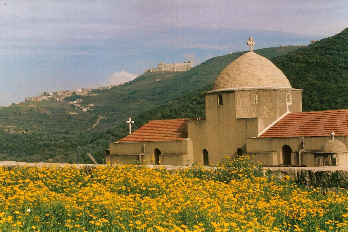 The ancient Monastery of St. George in northern Syria