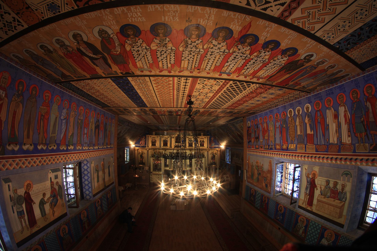 Interior of Transfiguration church of Grabarka Monastery