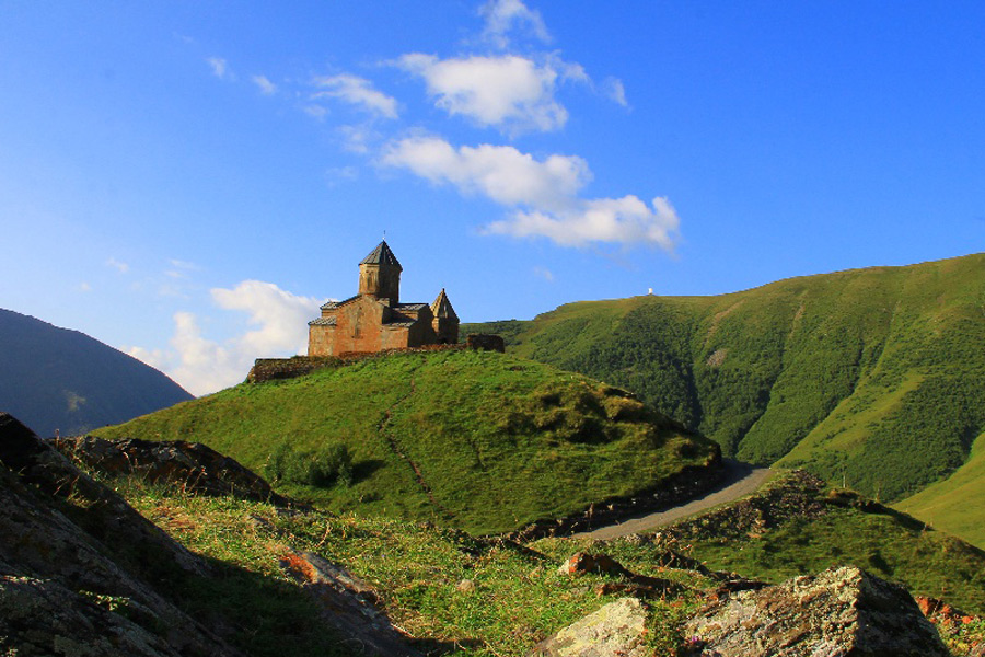 Sameba monastery close to Kazbegi